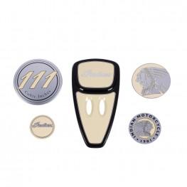 Touring Engine Cover Kit, Ivory Cream