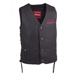 Men's Classic Leather Vest, Black