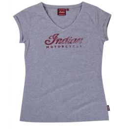 Women's Script Logo T-Shirt, Gray