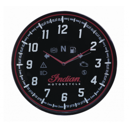 Round Wall Clock with Modern Speedometer Design, Black
