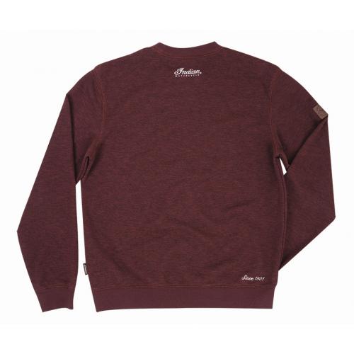 Men's Pull-Over Sweatshirt with Block Logo, Port