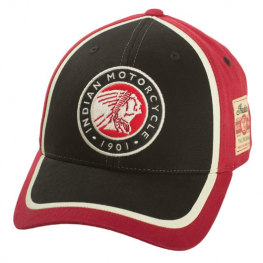 Circle Patch Hat, Red/Black