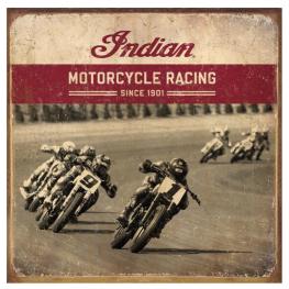 Flat Track Racing Metal Sign