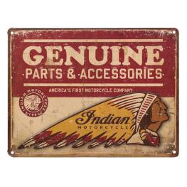 Genuine Parts Embossed Metal Sign